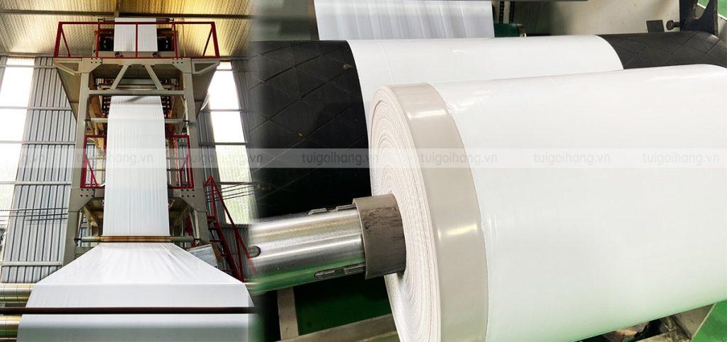 nhà máy sản xuất túi gói hàng trắng sứ