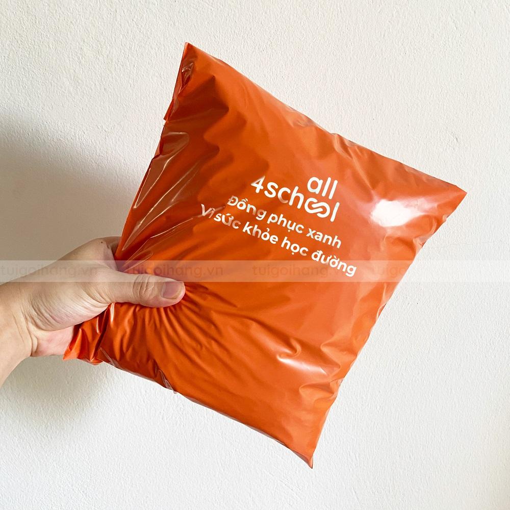 túi gói hàng cam bóng in thương hiệu