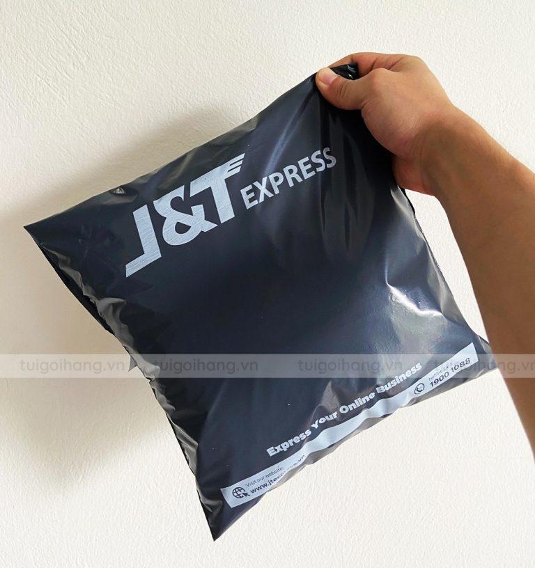 túi niêm phong đen in JT express